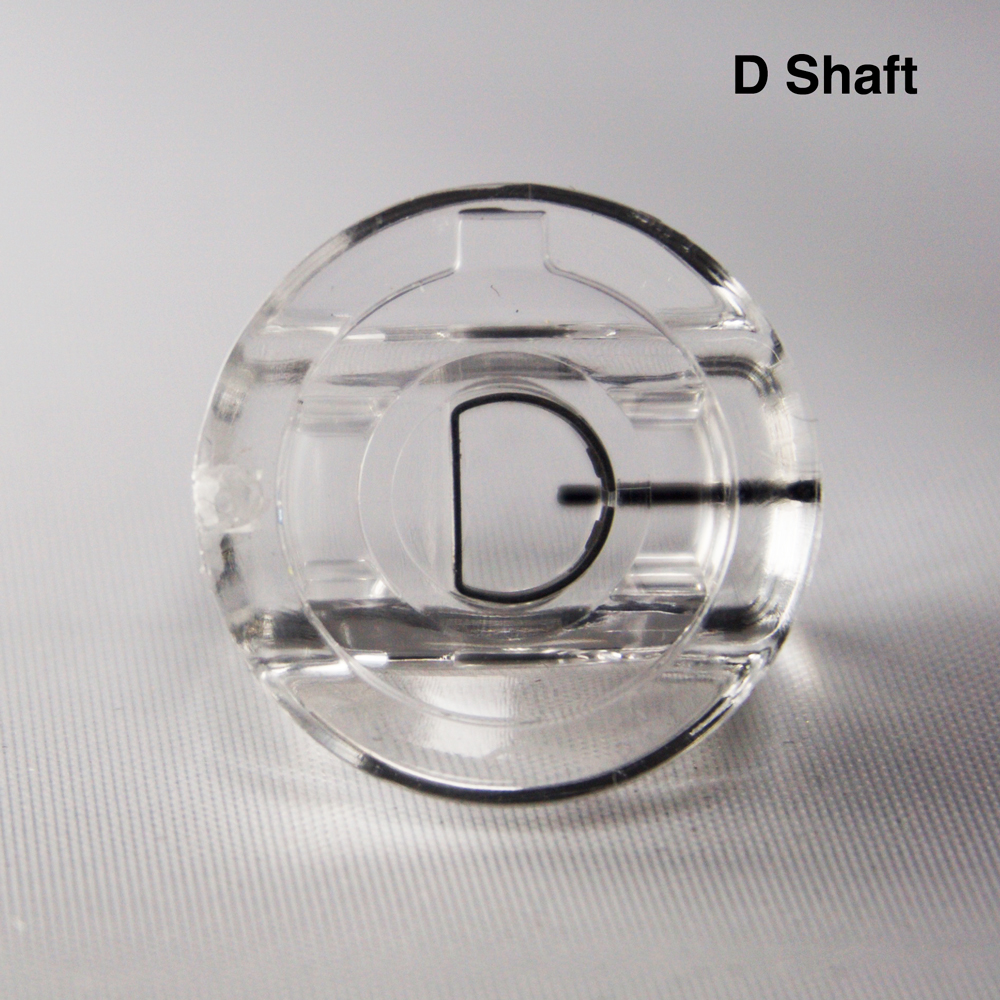 EP, SP, SL Clear Replacement Knob - NEW-D Shaft